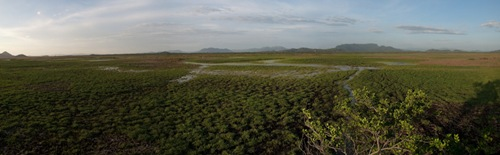 Filling Palo Verde Wetland from Bird tower - 06.02.2009 - 05.57.15 Stitch