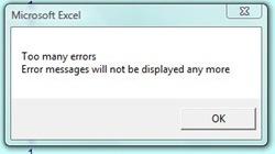 too many errors