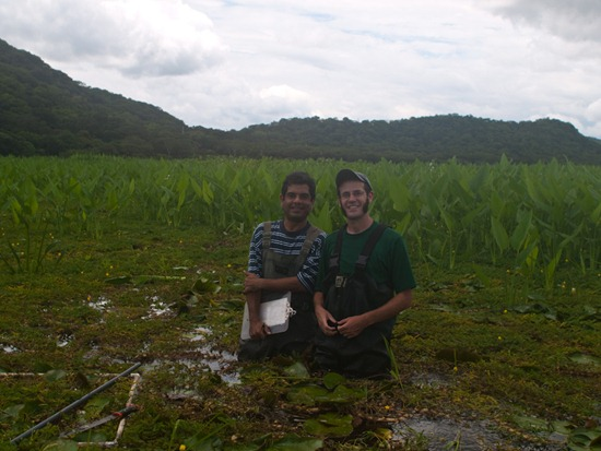 Rafa and I plant transect - 07.13.2010 - 11.38.41
